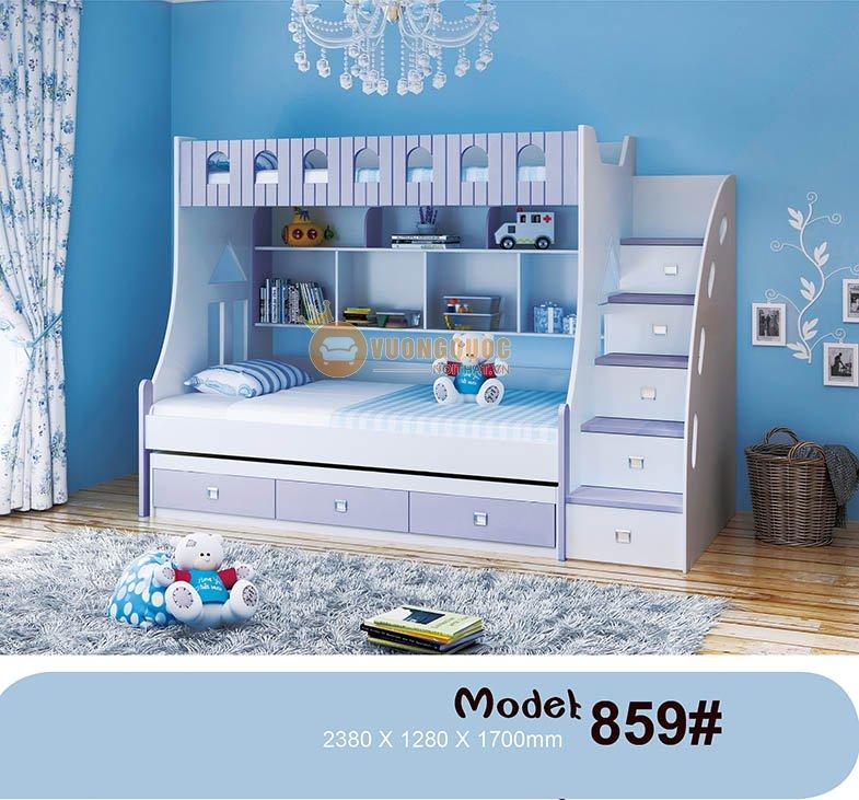 Giường tầng nhập khẩu chất liệu cao cấp HHM859-1