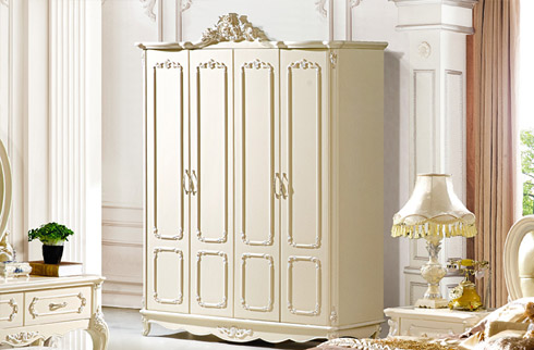 tủ quần áo sang trọng màu trắng