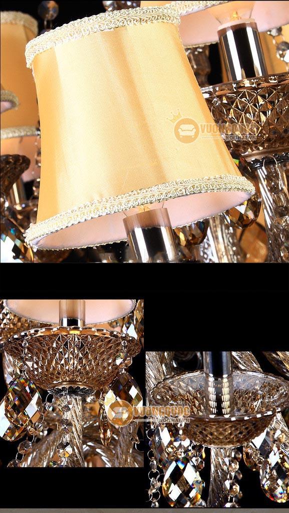Đèn chùm pha lê tân cổ điển châu âu LDH208-2