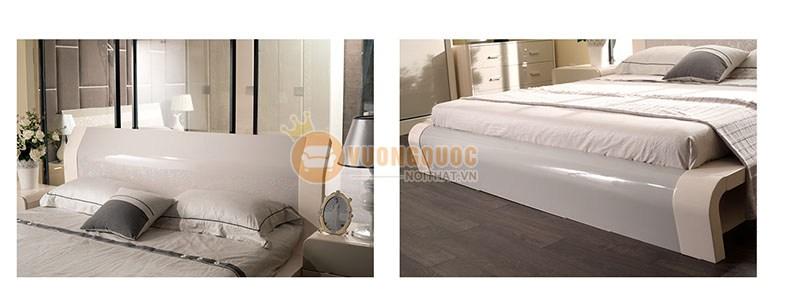 Giường ngủ hiện đại màu trắng trang nhã LJMS801G-3