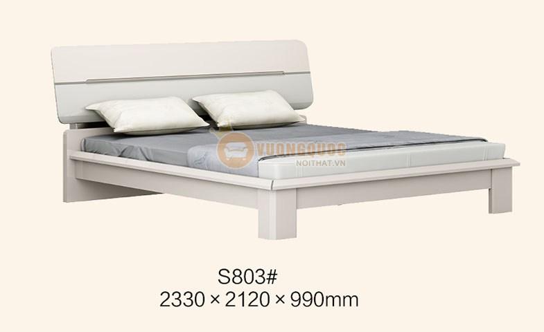 Giường ngủ LJMS803G phong cách hiện đại đẹp
