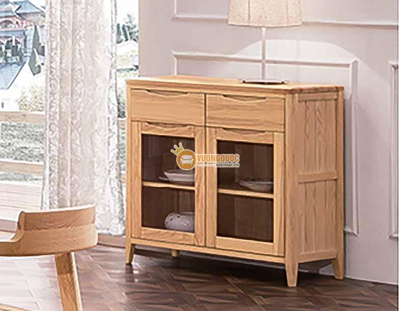 Bộ bàn ghế phòng ăn gỗ tự nhiên kiểu dáng đơn giản CGN5N102-3