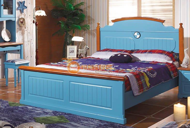 Bộ phòng ngủ màu xanh dương cá tính CTH7A008-1