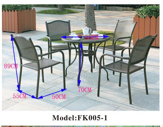 bộ bàn ghế sân vườn kiểu dáng cổ điển ZXFK005-1