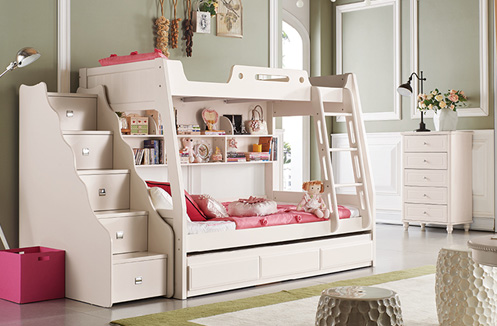Gới thiệu mẫu giường tầng cho bé gái thiết kế đáng yêu