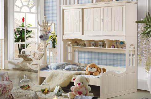 Giường tầng trẻ em kết hợp tủ kệ tiện dụng