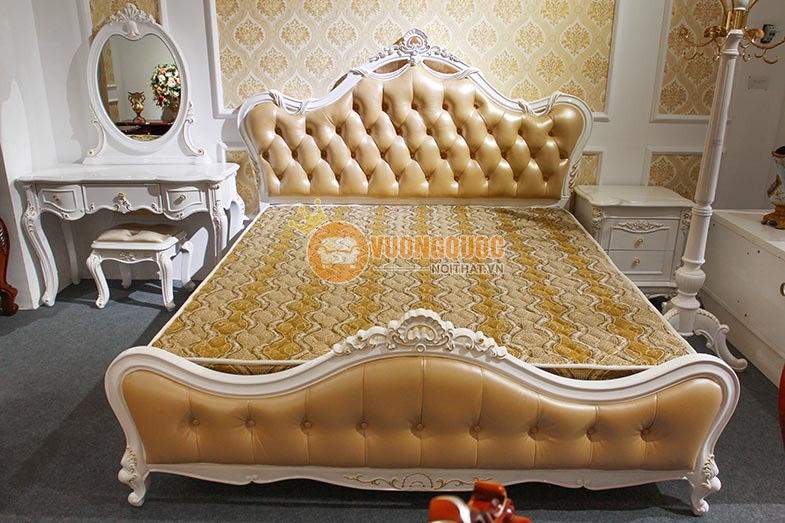 Giường ngủ phong cách tân cổ điển GD708-1