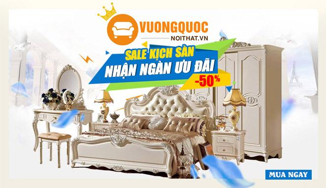 Sale up to 50%–Vương quốc nội thất giảm giá Khủng trên báo 24h.com.vn