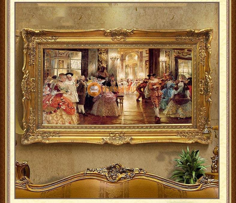 Tham khảo một số ý tưởng thiết kế tranh trang trí cho nội thất phòng khách cổ điển