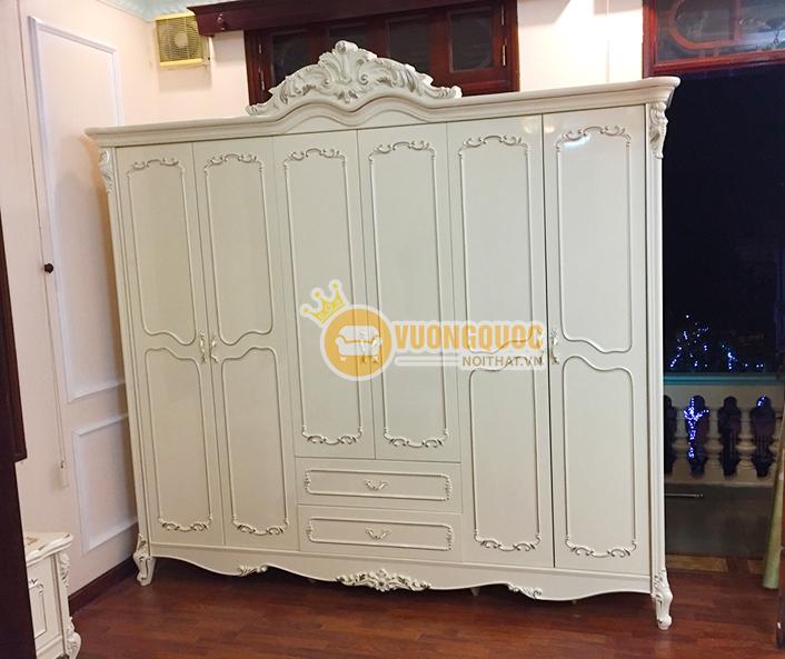 Thi công lắp đặt trọn bộ nội thất phòng ngủ cao cấp nhà anh Hùng, Hà Nội