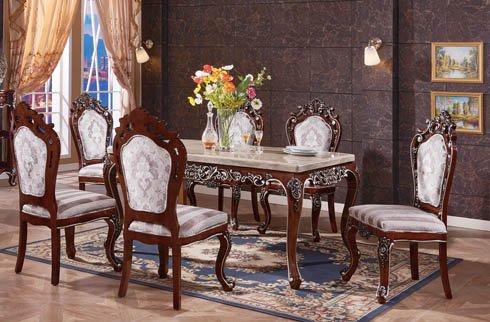 Một số mẫu bàn ghế ăn gỗ sồi nhập khẩu nổi bật năm 2018