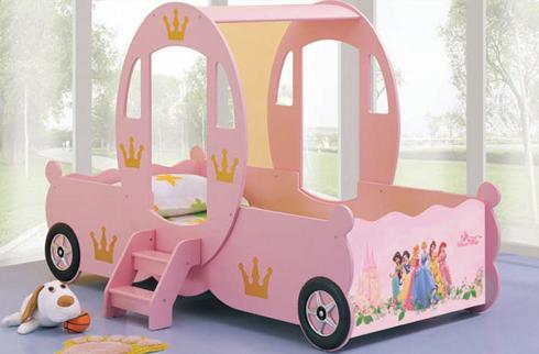 Mang sự ngọt ngào, dễ thương tới phòng ngủ của trẻ nhờ giường ngủ công chúa cho bé gái