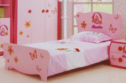 Bộ sưu tập những mẫu giường ngủ cho bé gái màu hồng đáng yêu