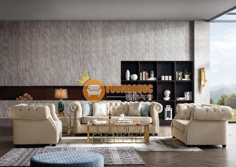 Bộ sofa phòng khách phong cách Châu Âu CSM 6254