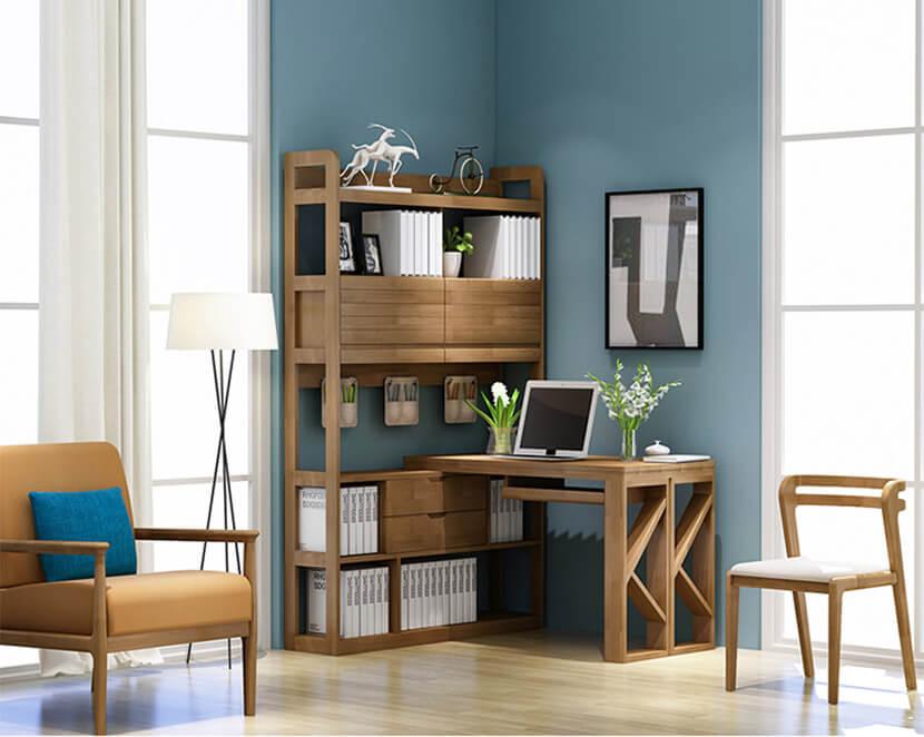 Bàn làm việc có giá sách – giải pháp cho không gian nhỏ