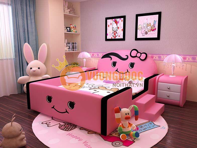 Giường bọc da cho bé thiết kế độc đáo BABYP15-1