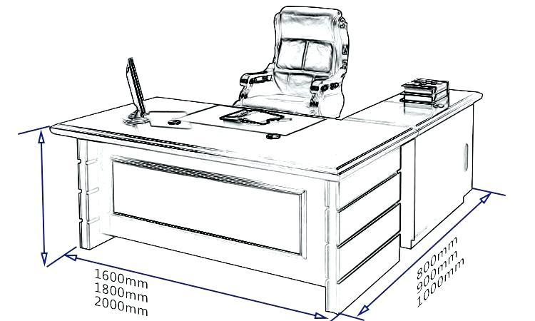 Kích thước tiêu chuẩn của bàn làm việc là bao nhiêu?
