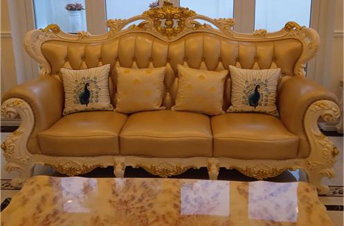 Hoàn thiện bộ sofa phòng khách tân cổ điển sang trọng