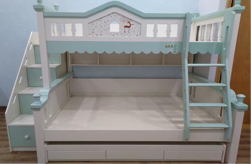 Lắp đặt giường tầng cao cấp nhập khẩu HHM333 anh Hà