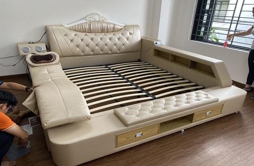 Hoàn thiện giường đa năng thông minh tại nhà anh Tài