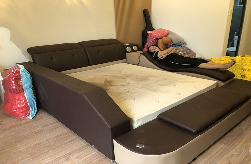 Hoàn thiện giường ngủ đa năng hiện đại Minami tại nhà anh Lộc