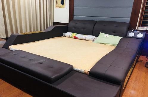 Hoàn thiện giường ngủ đa năng tiện ích cao cấp tại nhà anh Lý