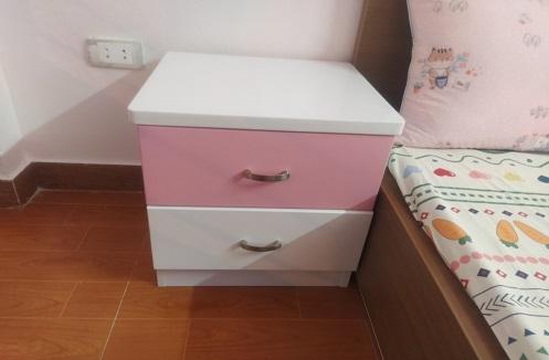 Hoàn thiện tab đầu giường công chúa sắc hồng tại nhà chị Thảo