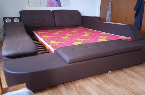 Hoàn thiện giường ngủ đa năng tiện ích cao cấp tại nhà anh Nhiều