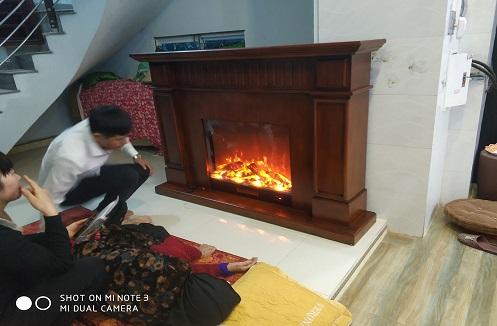 Hoàn thiện lò sưởi cao cấp nhập khẩu tại nhà anh Chiến