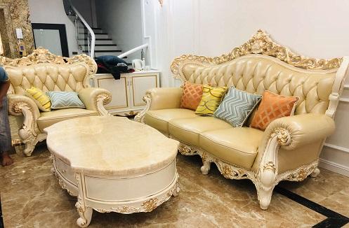 Hoàn thiện bộ nội thất phòng khách cao cấp tại nhà anh Hà