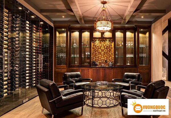 Hướng dẫn cách trưng bày tủ rượu đẹp hợp phong thủy
