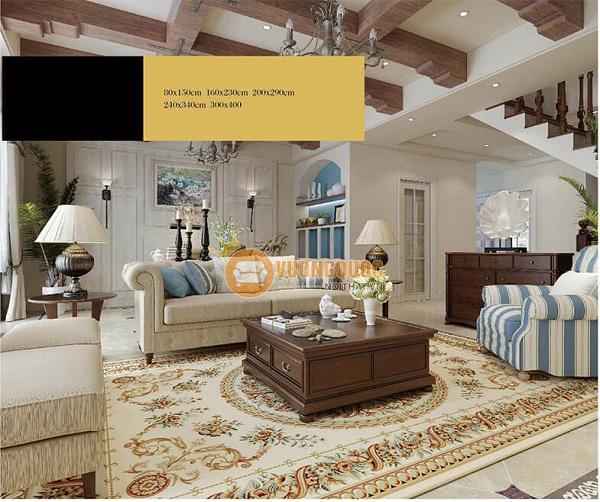 Báo giá thảm trải sàn phòng khách các mẫu mới nhất 2021