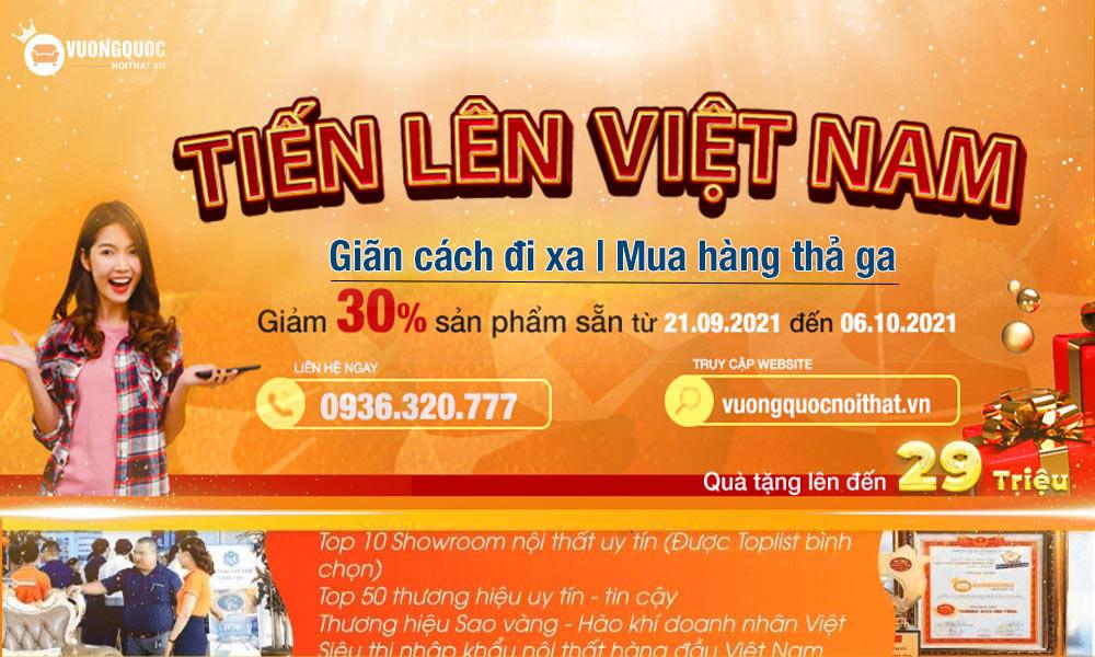 Tiến lên Việt Nam. Giãn Cách Đi Xa - Mua Hàng Thả Ga